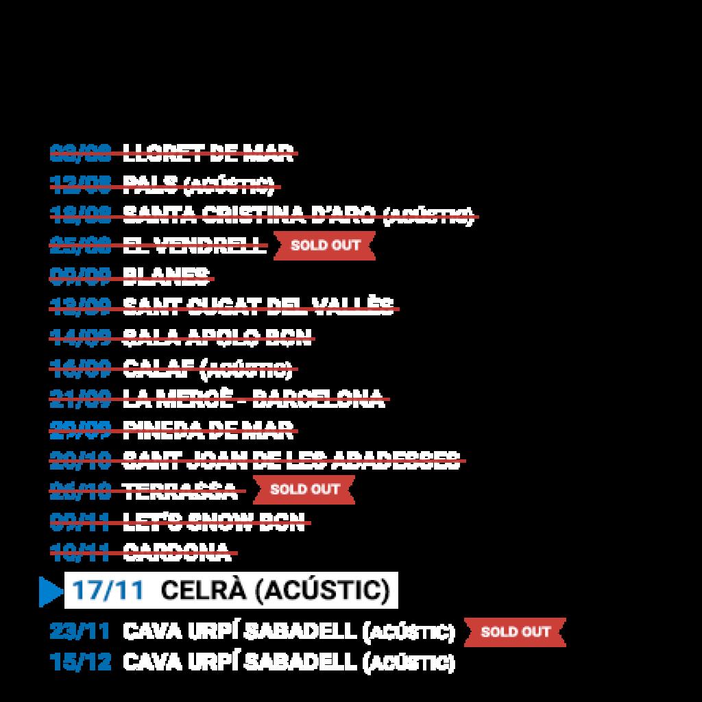 Propers concerts de Manu Guix